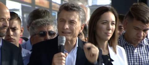 Macri en su discurso inaugural