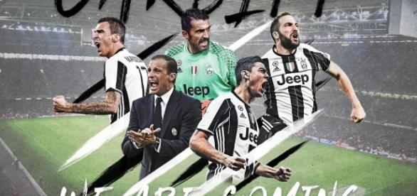 Juventus poster we're coming to cardiff - @juventusfc twitter