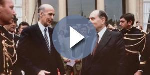 Due ex presidenti francesi, Valery Giscard d'Estaing e Francois Mitterrand