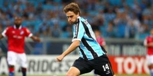 Maxi Rodriguez atuando pelo Grêmio