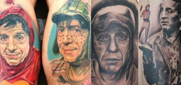 Tatuagens de Chaves e Chapolin