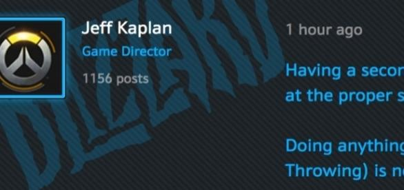 Jeff Kaplan's official announcement (Photo grabbed from Overwatch Official's Battle Forum)