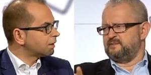 Michał Szczerba oraz Rafał Ziemkiewicz (źródło: youtube.com).