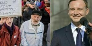 Prezydent Andrzej Duda vs. KODziarze (niezalezna.pl)