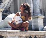 """Rym Renom, ex de MYHYV, de vacaciones en Roma. Foto vía Instagram de Rym Renom: """"rym.renom"""""""