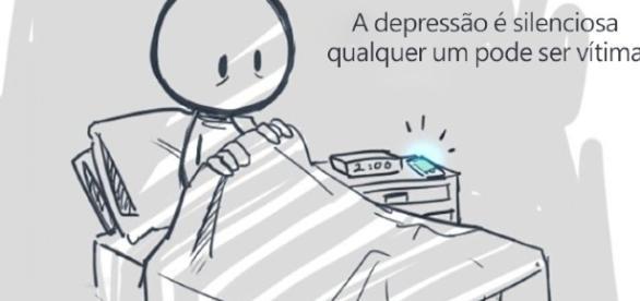 Ilustrações que mostram como vive uma pessoa com depressão