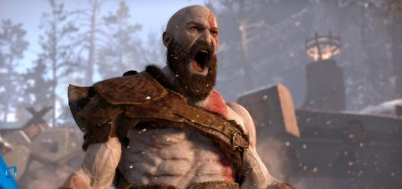 "In ""God of War 4,"" Kratos wields an axe instead of the titular Blades of Chaos (via YouTube/PlayStation)"