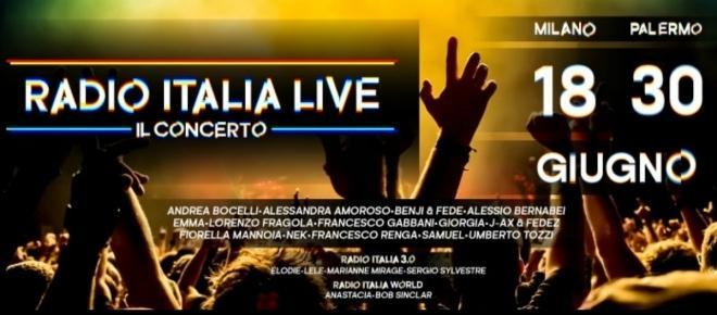 Radio Italia Live fa tappa a Palermo venerdì 30 giugno