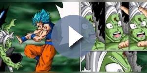 Goku utiliza el Hakai contra Zamasu.