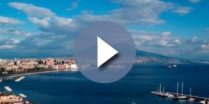 Vista panoramica del golfo di Napoli