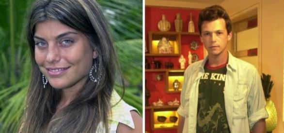 Joana Balaguer e Guilherme Belenguer na época de ''Malhação''