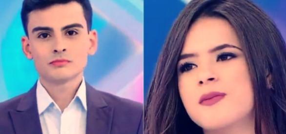 Maísa Silva e Dudu Camargo se estranham em programa (Fotos: Captura de vídeo)