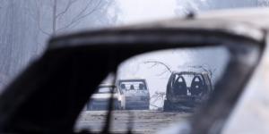 30 pessoas morrem estrada que foi tomada pelo incêndio