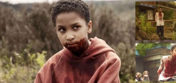 """Sennia Nanua spielt das Kind Melanie in """"The Girl with All the Gifts"""", Hollywood-Star Clenn Close als Dr. Caldwell / Fotos: Universum"""