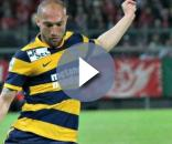 L'attaccante dell'Hellas Verona, Davide Luppi.