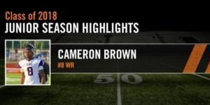 Nebraska football recruit Cameron Brown [Image via Hudl/YouTube screencap]