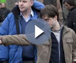 Daniel Radcliffe durante as filmagens de Harry Potter. Foto: Divulgação/Warner.