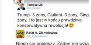 Tomasz Lis i Rafał Ziemkiewicz (źródło: twitter.com).