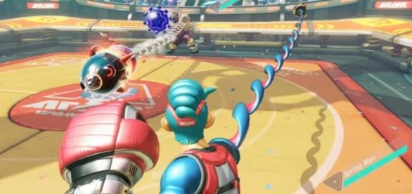 """""""Arms"""" is the newest title to reach the titular joy-con Nintendo Switch (via YouTube/Nintendo)"""
