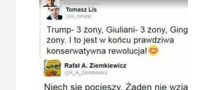 Ziemkiewicz bezlitosny wobec Lisa na Twitterze: 'Żaden nie wziął... [FOTO]