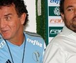 Técnico Cuca (à esquerda) e diretor de Futebol do Palmeiras, Alexandre Mattos
