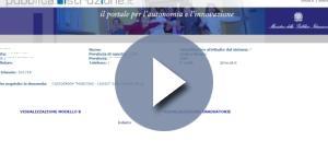 Visualizzazione acquisizione domanda inserimento GI 2017/2020