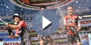 Gianni Moscon sul podio con Felline e Quinziato