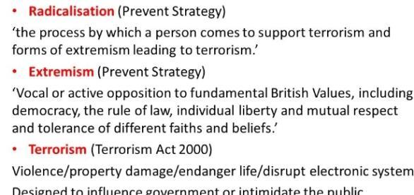 Extremism and Radicalisation 'PREVENT' Information for School ... - slideplayer.com
