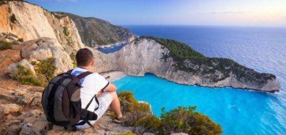 Mirante na ilha de Zakynthos, Grécia