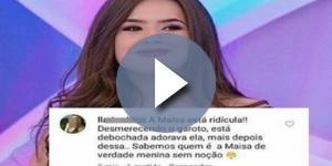 Fã de Maisa responde crítica de internauta