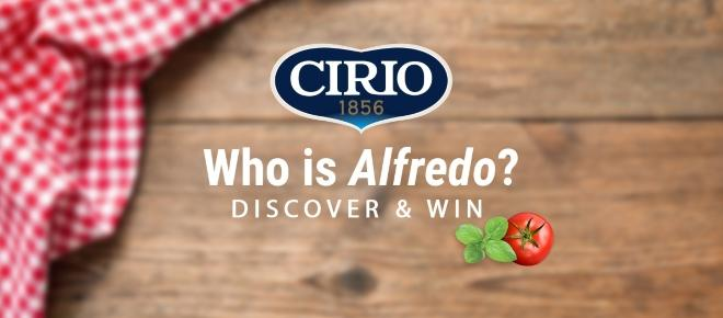Who is Alfredo? The big Cirio giveaway competition - #ImNotAlfredo