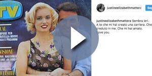 Justine Mattera ricorda l'ex marito scomparso Paolo Limiti