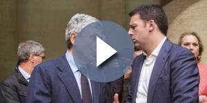 Massimo D'Alema e Matteo Renzi