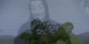 Un fotogramma del video di Anonymous