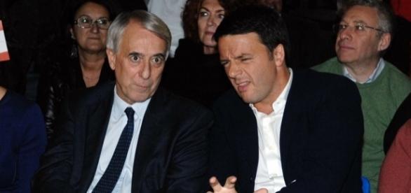 Matteo Renzi insieme a Giuliano Pisapia