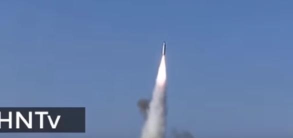 New video of latest NORTH KOREA missile test. Image credit : HNtv  Youtube