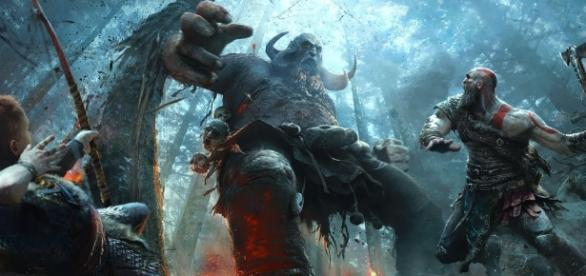 The PlayStation 4-exclusive 'God of War 4' will offer no camera cuts. - via YouTube/PlayStation