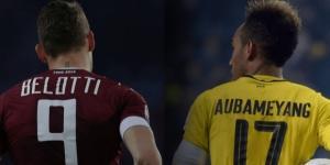Andrea Belotti, attaccante del Torino e Pierre-Emerick Aubameyang, attaccante del Borussia Dortmund