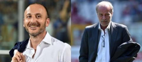 Piero Ausilio, direttore sportivo dell'Inter e Walter Sabatini, supervisore del gruppo Suning Sport