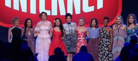 """All Disney Princesses appear for """"Wreck-It Ralph 2"""" at D23 Expo 2017 (Image Credit: Inside the Magic/YouTube)"""