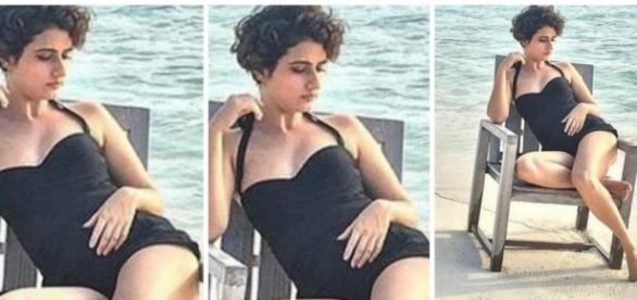 Dangal girl Fatima gets TROLLED for black itsy bitsy during ... - stardust.co.in