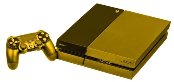 Gold PS4 has been leaked - By Evan-Amos via Wikimedia Commons (colorized)