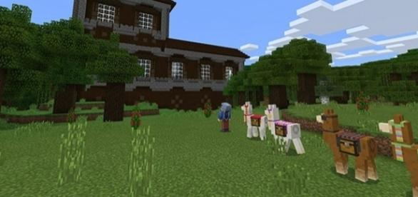 """Llama and Woodland Mansion teased for the next """"Minecraft: Console Edition"""" update."""
