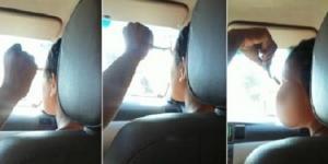 Vídeo mostra o momento em que mulher tem as sobrancelhas raspadas (Foto/Reprodução)