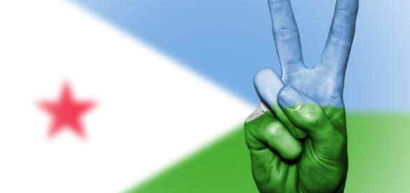 Chinese Red Star over Djbouti is a realityhttps://pixabay.com/en/djibouti-peace-hand-nation-2131165/