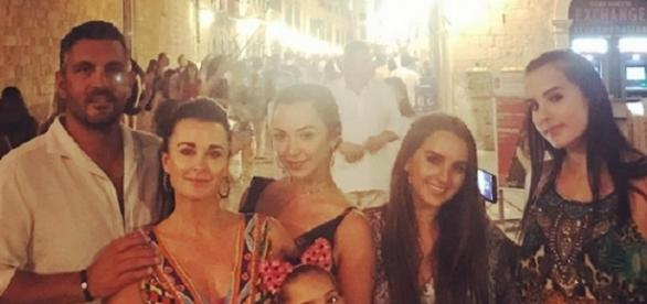 Kyle Richards' family in Croatia (Photo credit: Instagram)