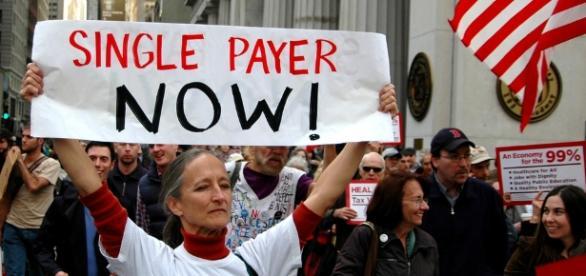 Single Payer Demonstration (Michael Fleshman Flickr)