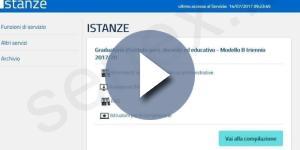 La schermata di accesso alla compilazione del Modello B relativo al triennio 2017/20 per il personale docente graduatorie di II e III fascia