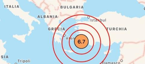 Violento terremoto tra Grecia e Turchia: morti e feriti. Mini tsunami - algheronewsgroup.com