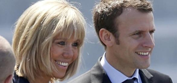 French President Emmanuel and First Lady Brigitte Macron. Photo via 6Medias, YouTube.